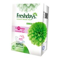 Freshdays natural cotton feel normal 48 pantyliners