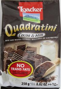 Loacker Quadratini Cocoa & Milk Wafers 250g