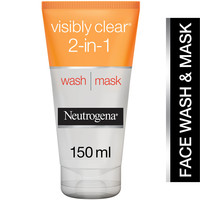 Neutrogena Visibly Clear 2 in 1 Wash and Mask 150ml