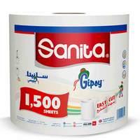 Sanita Gipsy Maxi Roll 1500 Sheets white color
