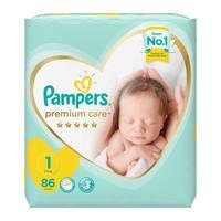 Pampers premium care 1 jumbo pack 2 - 5 kg 86 diapers
