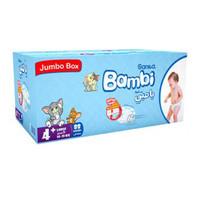 Bambi 4+ jumbo box large 10 - 18 kg x 88