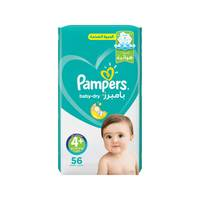 Pampers Baby-Dry Diapers Size 4+ Maxi Plus Jumbo Pack 56 diapers