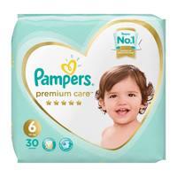 Pampers premium care 6 jumbo pack 13 + kg 30 diapers