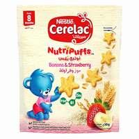 Nestle Nutripuffs Original Strawberry And Banana Cerelac 50g