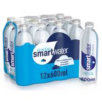 Glaceau Smart Bottlesd Drinking Water 600ml x Pack of 12