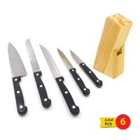 Knife set with block 1 × 5 pieces