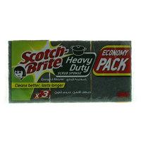 Scotch-Brite Heavy Duty Scrub Sponge x Pack of 3