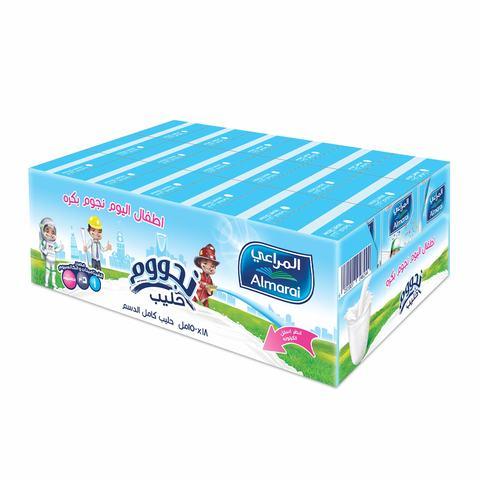 Buy Almarai Long Life Full Fat Nijoom Plain Milk 150 Ml X 18 Pieces Online Shop Fresh Food On Carrefour Saudi Arabia