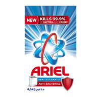 Ariel high foam anti bacterial powder detergent 4.5 Kg