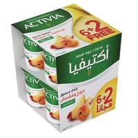 Activia Stirred Yoghurt Full Fat Peach-Apricot 120g x 8 pack (6 + 2Free)