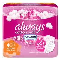 Always Cotton Soft Ultra Thin Normal sanitary pads 10 pads