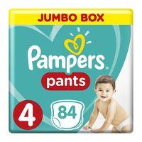 Pampers 4 jumbo box pants 9 -14 kg x 84