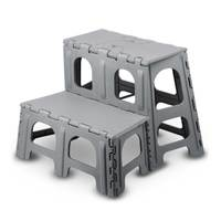 Folding 2 step plastic stool