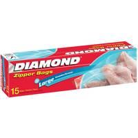 Diamond Zipper Bags Freezer Large 15 Pieces