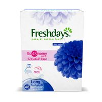 Freshdays Long Economical Size Pantyliners 48 Count