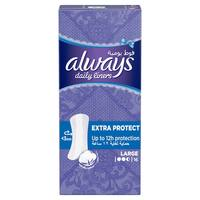 Always Daily Liners Extra Protect Pantyliners Large 16 Count