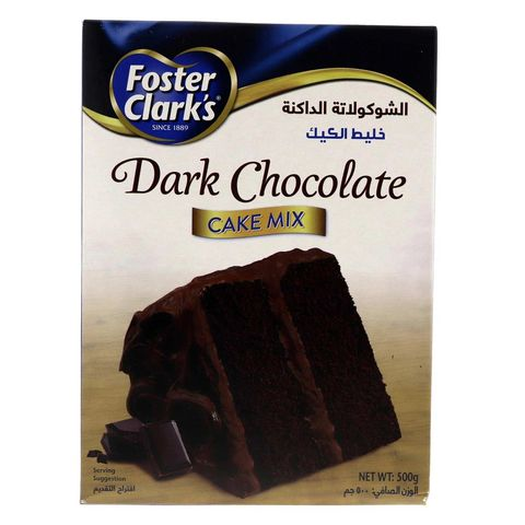 Tiza Alergia jalea  Buy Foster Clarks Dark Chocolate Cake Mix 500g Online - Shop Food Cupboard  on Carrefour UAE