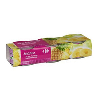 Carrefour pineapple slice 225 g × 3