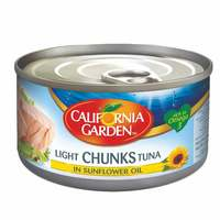 California Garden Light Solid Tuna In Sunflower Oil 185g