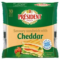 President Savoury Sandwich with Cheddar Slice Cheese 200g