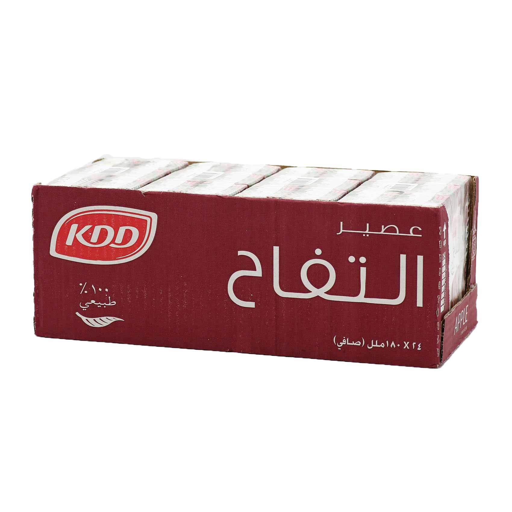 Buy Kdd Apple Juice 180 Ml X 24 Pieces Online Shop Beverages On Carrefour Saudi Arabia