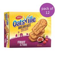 Tiffany oatsville breakfast wheat & oat biscuits fruit & fibre 50 g x 12 pieces
