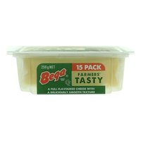 Bega Farmers Tasty Natural Cheese Slices 250g