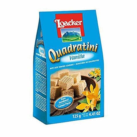 Buy Loacker Quadratini Mini Wafer With Vanilla Cream 125 Gm Online Shop Food Cupboard On Carrefour Egypt
