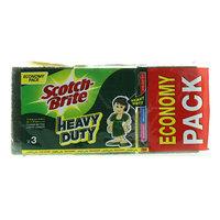Scotch-Brite Heavy Duty Scrub Sponges x Pack of 3
