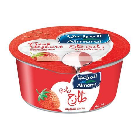 Buy Almarai Fresh Yoghurt Strawberry Flavoured 150 G Online Shop Fresh Food On Carrefour Saudi Arabia