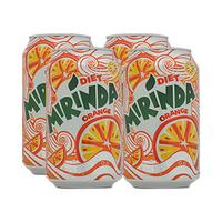 Mirinda Diet Soft Drink Can 330ML X4