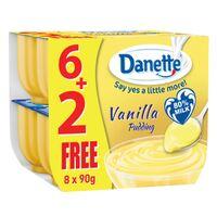 Danette Dessert Vanilla Flavour 90g pack of 6 + 2 Free