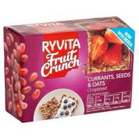 Ryvita Fruit Crunch Currents, Currants, Seeds & Oats Crispbread 200g