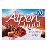 Alpen Light Chocolate And Fudge Bar 145g