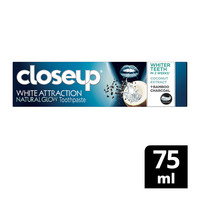 Closeup white attraction natural glow toothpaste coconut extract + bamboo charcoal 75 ml