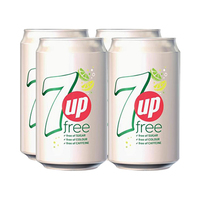 7-Up Diet Soft Drink Can 330ML X4