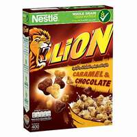 Nestle Lion Caramel And Chocolate Breakfast Cereal 400g