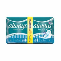 Always Ladies Pads Ultra Thin Extra Long Value Pack 14 Pads