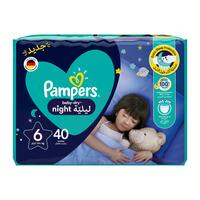 Pampers 6 baby-dry night diapers 14+ kg x 40