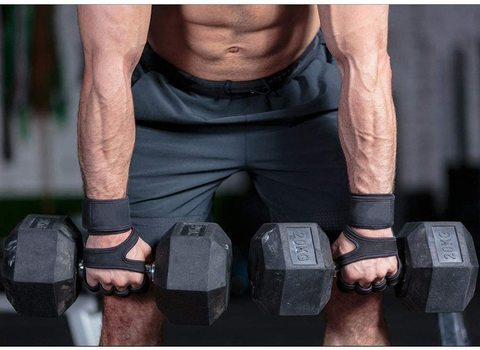 Buy Sports Leather Padding Gloves Cross Training Gloves with Wrist Support  for WODs,Gym Workout,Weightlifting & Fitness-Leather Padding, No  Calluses-Suits Men & Women-Weight Lifting Online - Shop Health & Fitness on  Carrefour UAE