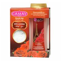 Camay shower gel romantique  + loofah 250 ml