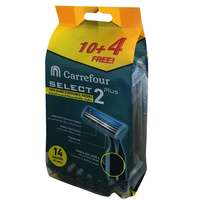 Carrefour Select 2 Plus Twin Blade Disposable Razors for Men 14 Count