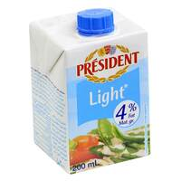 President 4% Fat UHT Light Cream 200ml
