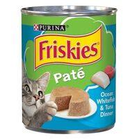 Purina Friskies Pate Ocean White Fish And Tuna Cat Food 369g