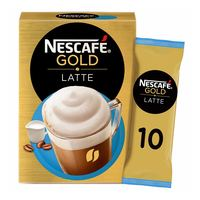 Nescafe gold latte instant coffee with skimmed milk 19.5 g x 8 mugs