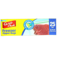 Glad Freezer Zipper Bags Pack of 25