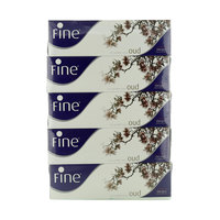 Fine White Tissues Oud 150 Sheets x Pack of 5