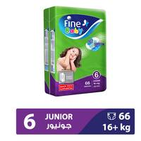 Fine Baby Diapers Mega Pack Size 6 16+ kg Junior 66 Count