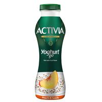 Activia YoghurtGo Drinkable Youghurt Snack Peach & Seeds 280ml